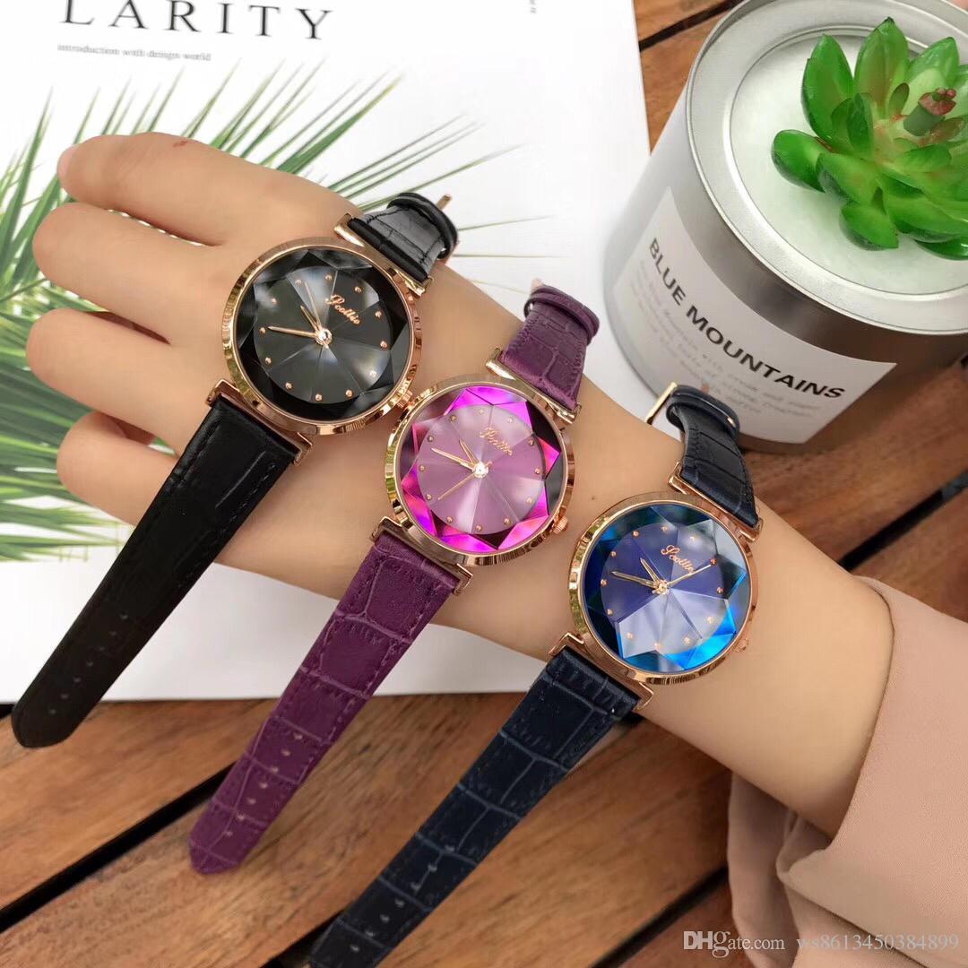 По Гауди Скотти новая девушка часы новый алмазное стекло зеркальный циферблат Grand Goddess модная серия девушки часы, партия цветочного стекла. Импортированный кварц м