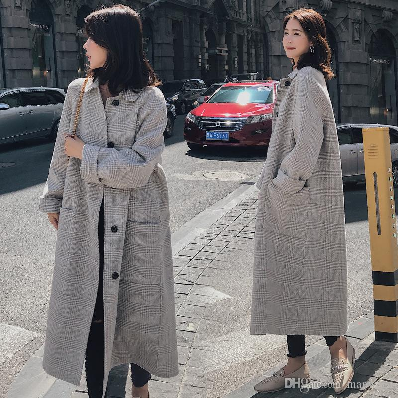 cheap big sale latest selection 2019 Plus Size Women Trench Coat 2019 New Winter Woman Wool Slim Coat Maxi  Long Jacket Casual Trench Coat Female Cold Outwearts From Manweisi, &Price;  ...
