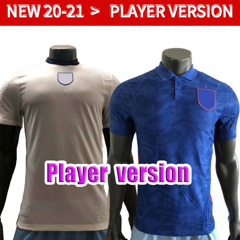 20 21 Player-Version RashFor Kane Fussball Jerseys 2020 2021 Away Blue Lingard DELE Vardy Soccer Shirt DELE National Team Football Unifor