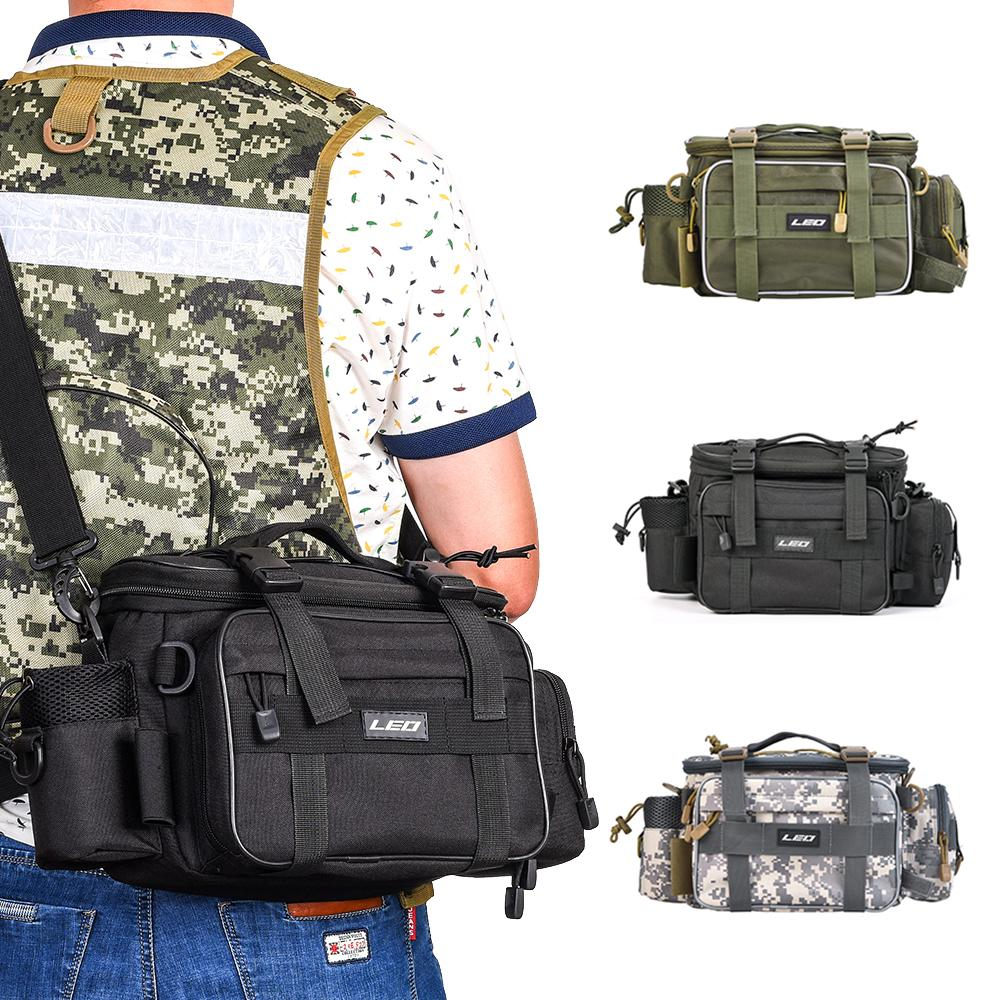 ports & Entertainment LEO Multifunctional Fishing Tackle Bags Single Shoulder Crossbody Bag Waist Pack Fish Lures Gear Utility Storage Fi...