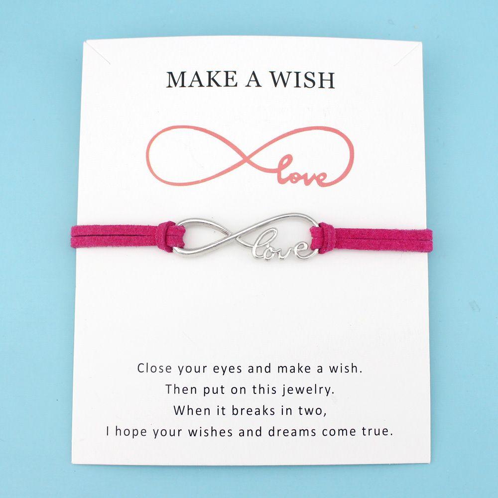 Девушки Регулируемой Дружбы Обручальной Свадьба невеста ювелирных изделия с картой Бесконечность Любовь Сделайте шарм браслеты для женщин