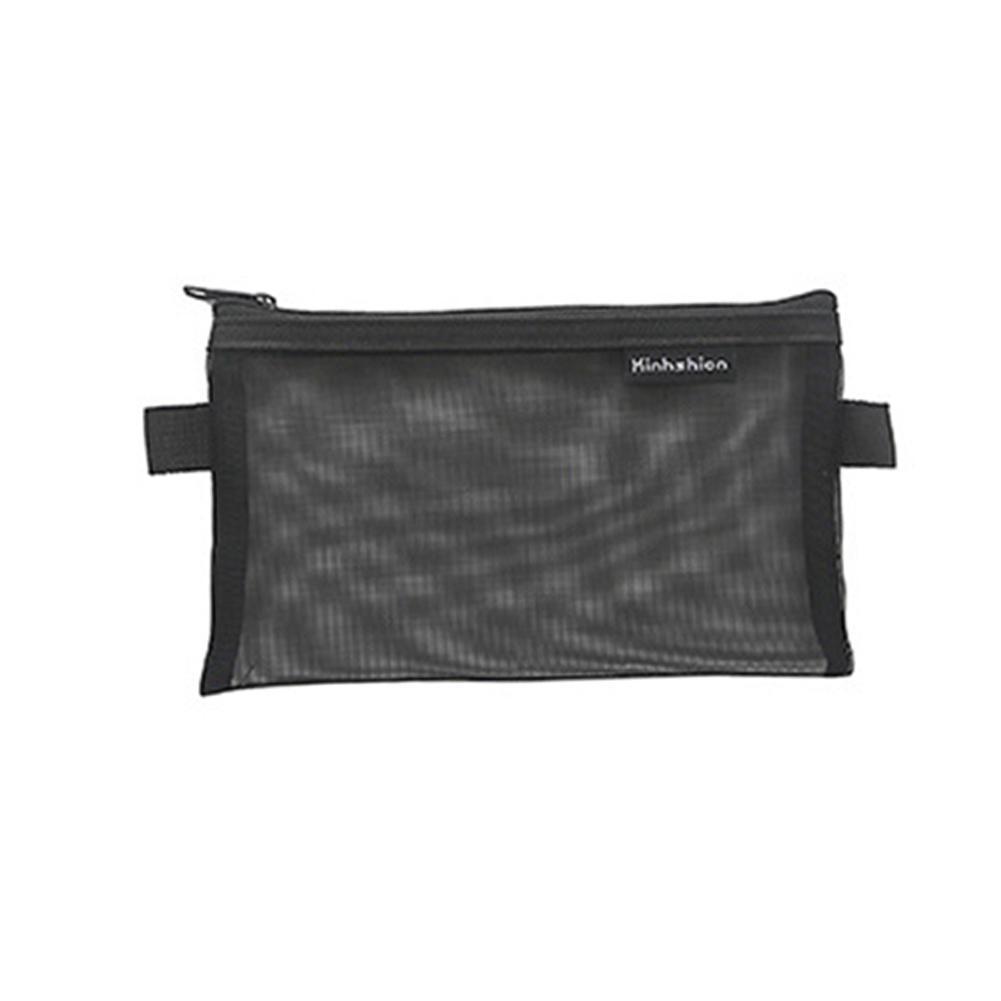 Pencil Case Back to School Make Up Bag Transparent Grid Zipper Pencil Bags Storage Package Stationery File Bag