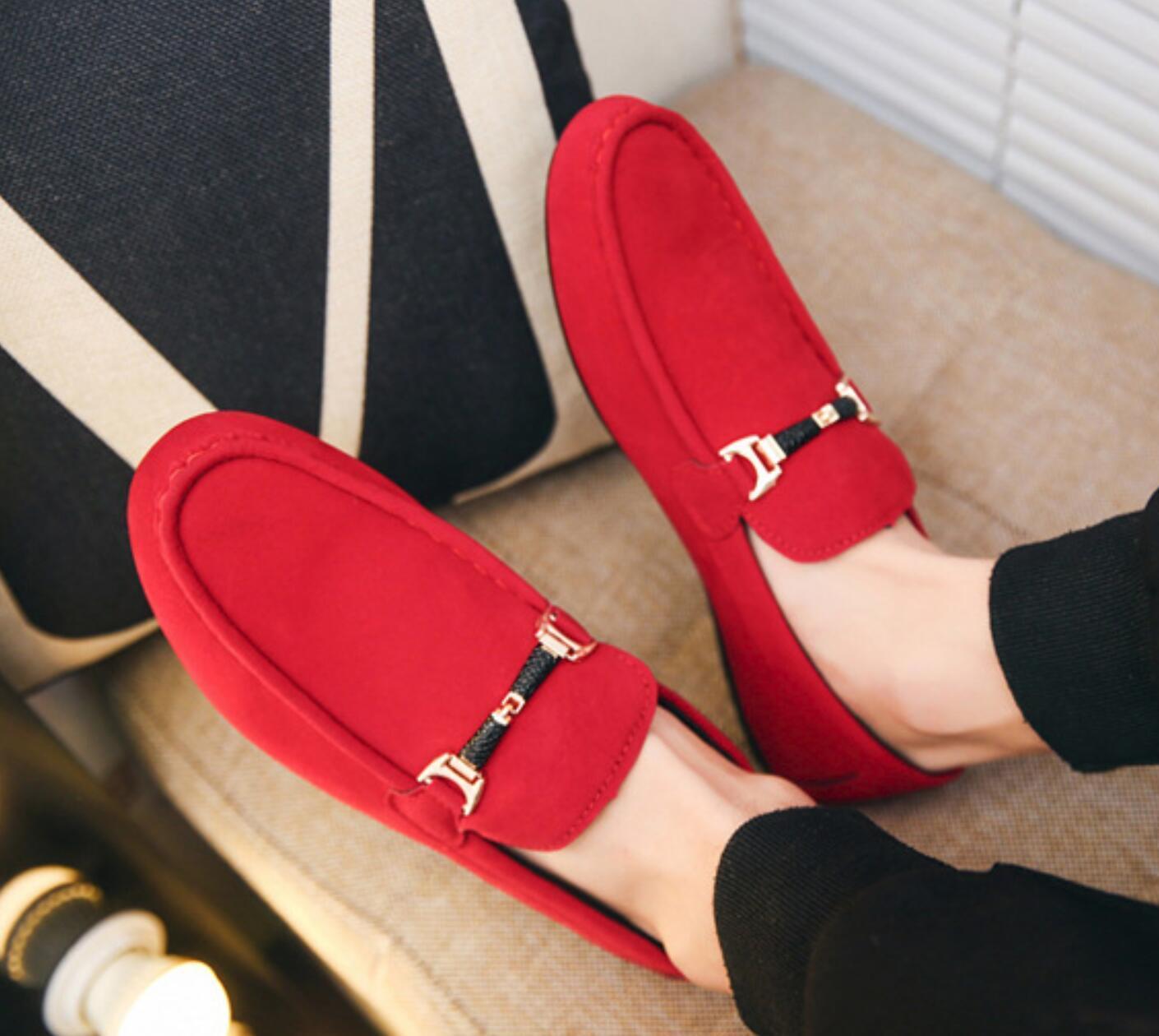Herren-Slip-on-Comfort-beiläufige Schuh-Männer Wildleder Loafer Leichte Gehen Kleid-Schuhe Mokassins Breath Loafers N088