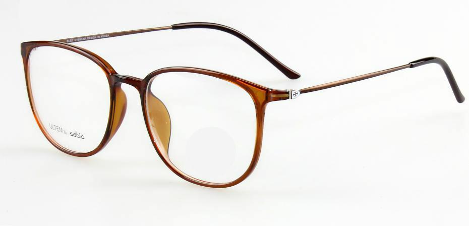 Fashion-- vintage rétro Haoyu super lumière difficiles montures de lunettes en titane ULTEM plastique pieds en acier mémoire élastique seulement 6G oculos de grau