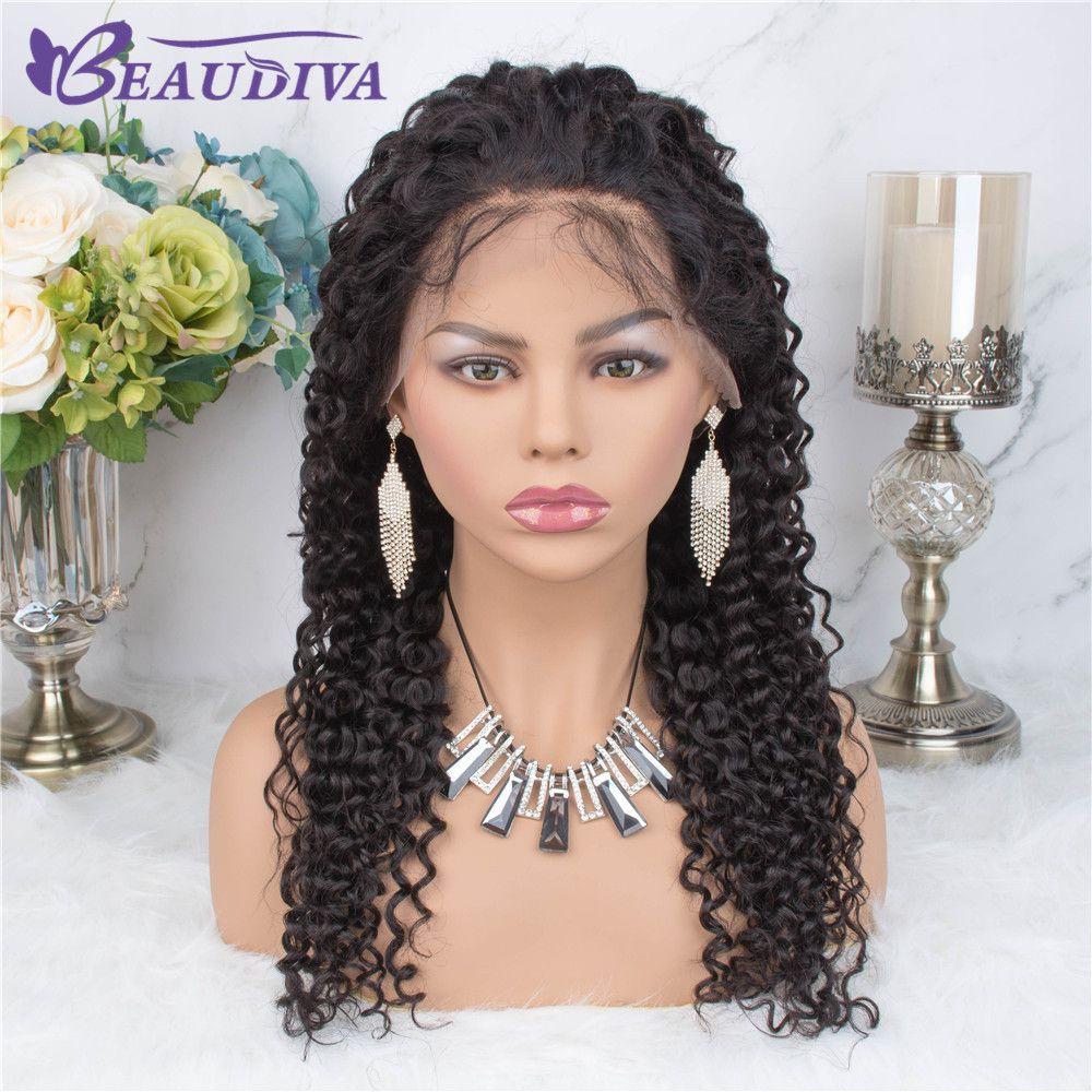 Beau Diva Curly 360 Lace frontal peruca de cabelo humano Frente perucas Remy brasileira Virgin perucas de cabelo para as mulheres end completa