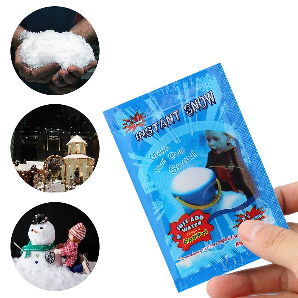 همية 1PC ماجيك لحظة الثلج الاصطناعي الثلج حزب مهرجان ديكورات لحفل الزفاف عيد الميلاد الاصطناعية رقاقات الثلج عيد الميلاد