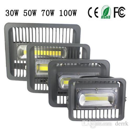 Proiettore a LED IP66 Proiettore impermeabile 30W-150W 220V 230V 110V 127V Lampada da parete per esterni con riflettore