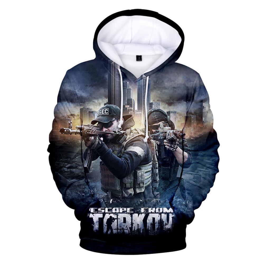 Побег из Толкова толстовка с капюшоном Мода Толстовка горячая игра с длинным рукавом пуловер с капюшоном размер XXS-4XL
