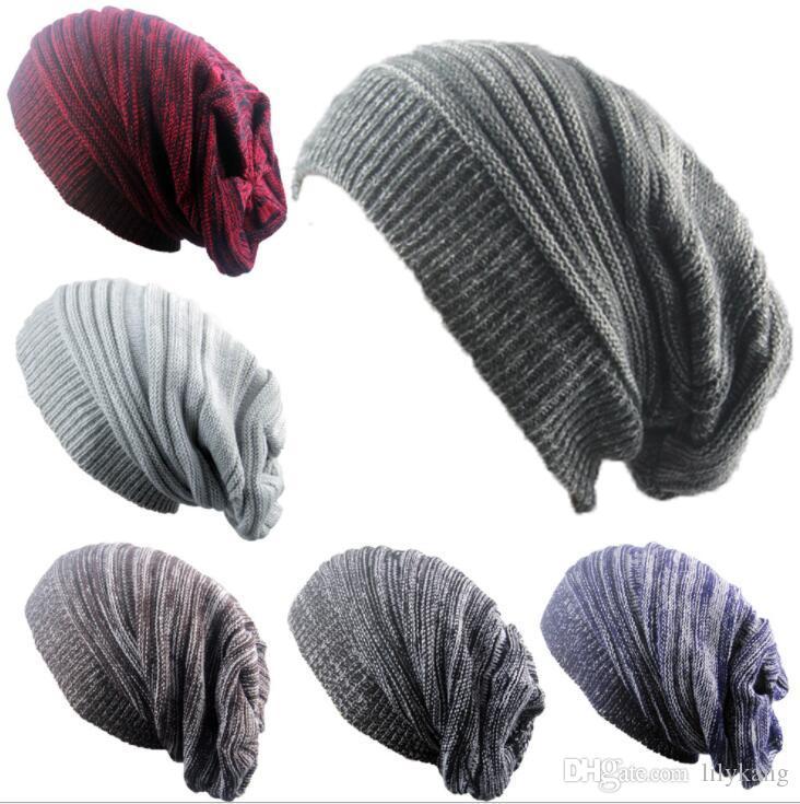 حار شتاء المرأة محبوك القبعات الدافئة ترهل بيني للبالغين العصرية الدافئة مكتنزة لينة تمتد كابل الصوف كاب حك قبعة بخيل حافة قبعة