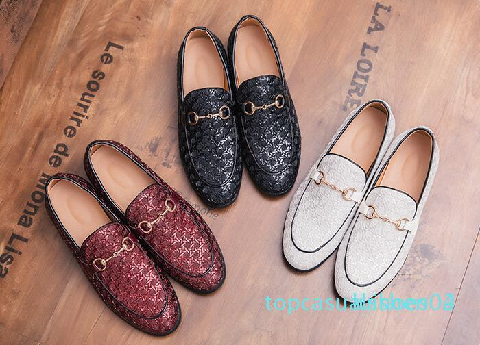 NEW mens Loafer Schuhe Herren Stylist Metallknopf coloursmens Designer-Schuhe Männer Faulenzer 38-45 t04