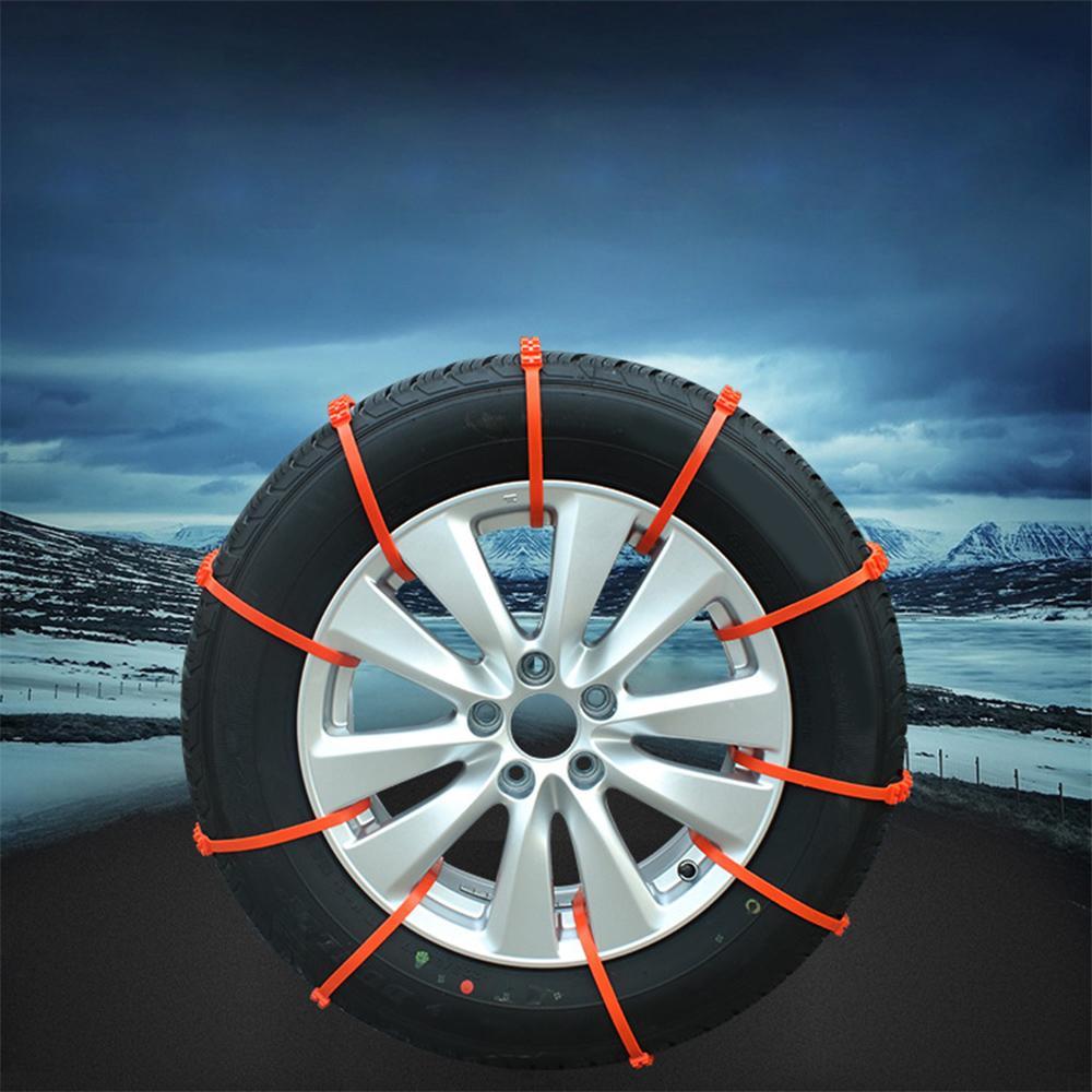 자동차 SUV 겨울 타이어 눈 진흙 도로 긴급 스노우 체인 10PCS / 설정 범용 플라스틱 자동차 휠 타이어 안티 스키드 체인