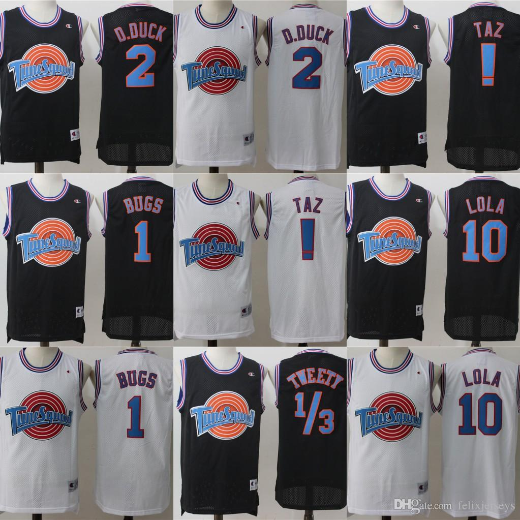 Tune Squad Space Jam Movie Jersey 1 Bugs Bunny 2 Daffy Duck 1 3 Tweety Bird 10 Трикотажные изделия для баскетбола Lola Bunny