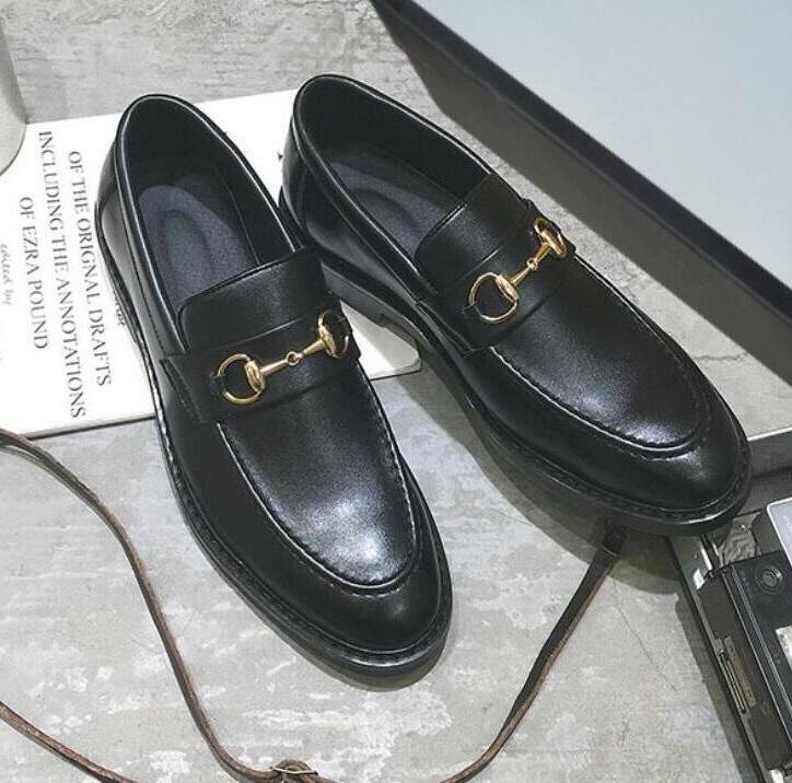 zapatos pequeños de lujo para hombre, mocasines casuales británicos para estilistas, zapatos casuales de diseñador de talla grande, mocasines de cuero de la marca popular safeW92