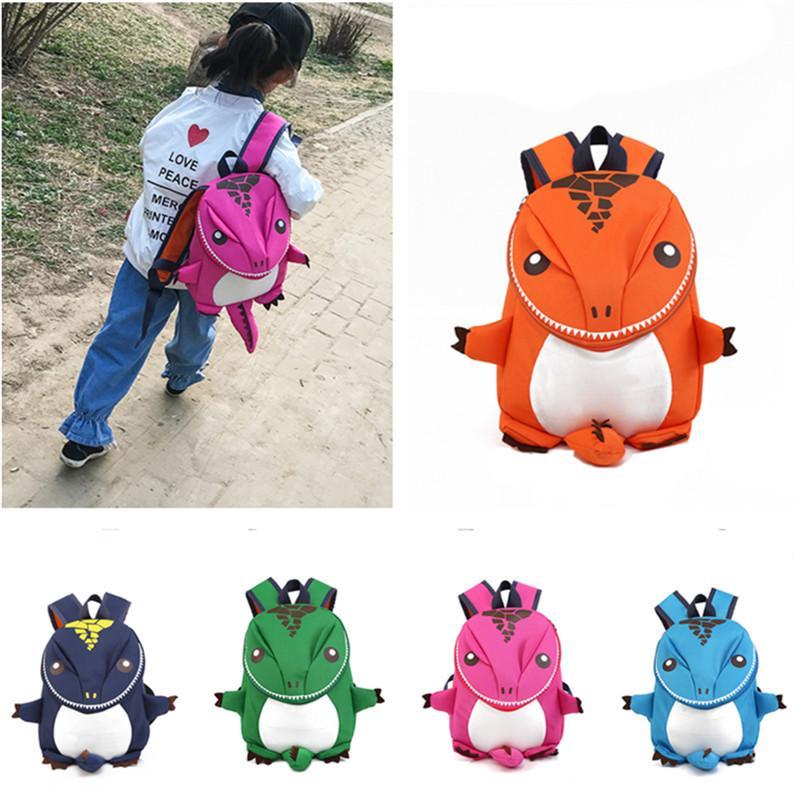 Мода дети школьная сумка 3D динозавр рюкзак для мальчиков дети рюкзаки детский сад маленький школьный рюкзак девушки милые животные рюкзак 28 * 22*8 см