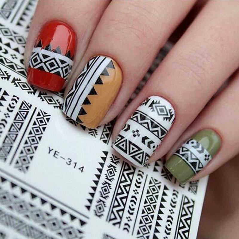 25 stücke Mode Nagel Aufkleber Transfer Aufkleber Klebstoff Alles für Maniküre Nail art Dekorationen Aufkleber für Nägel