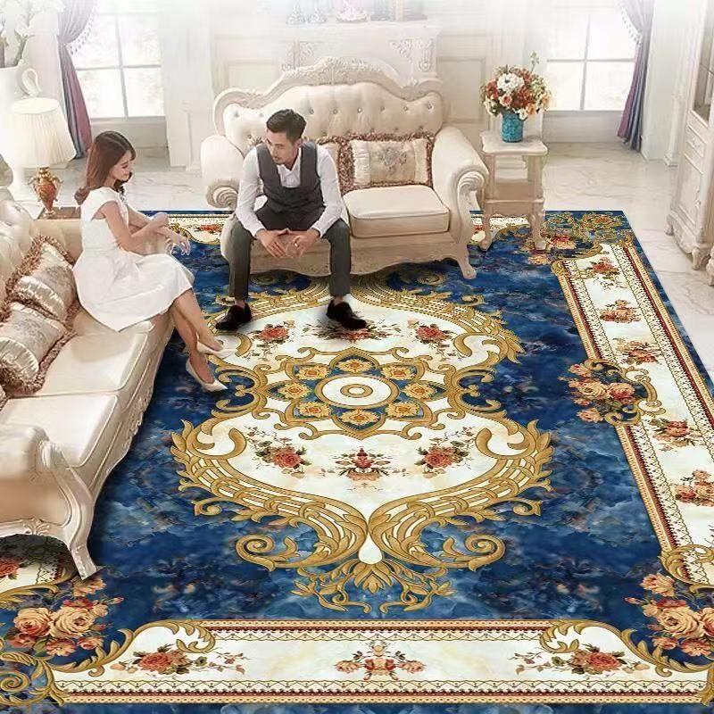 3D 인쇄 플란넬 유럽 스타일의 카펫 방 바닥 카펫 거실 침실 홈 장식 패드 환경 보호