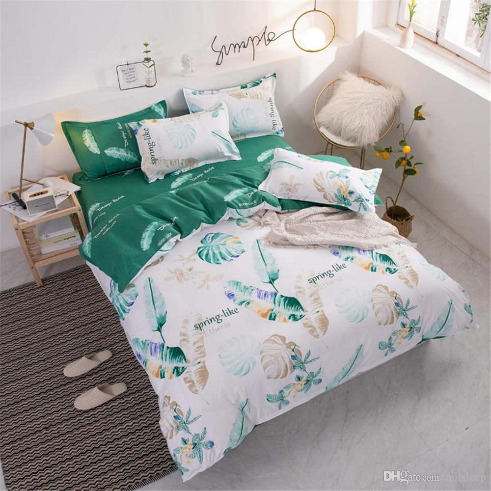 Tissu ensemble de literie couette romantique double pleine Queen Size 2 / 3pcs Housse de couette avec beau modèle de couvre-lits