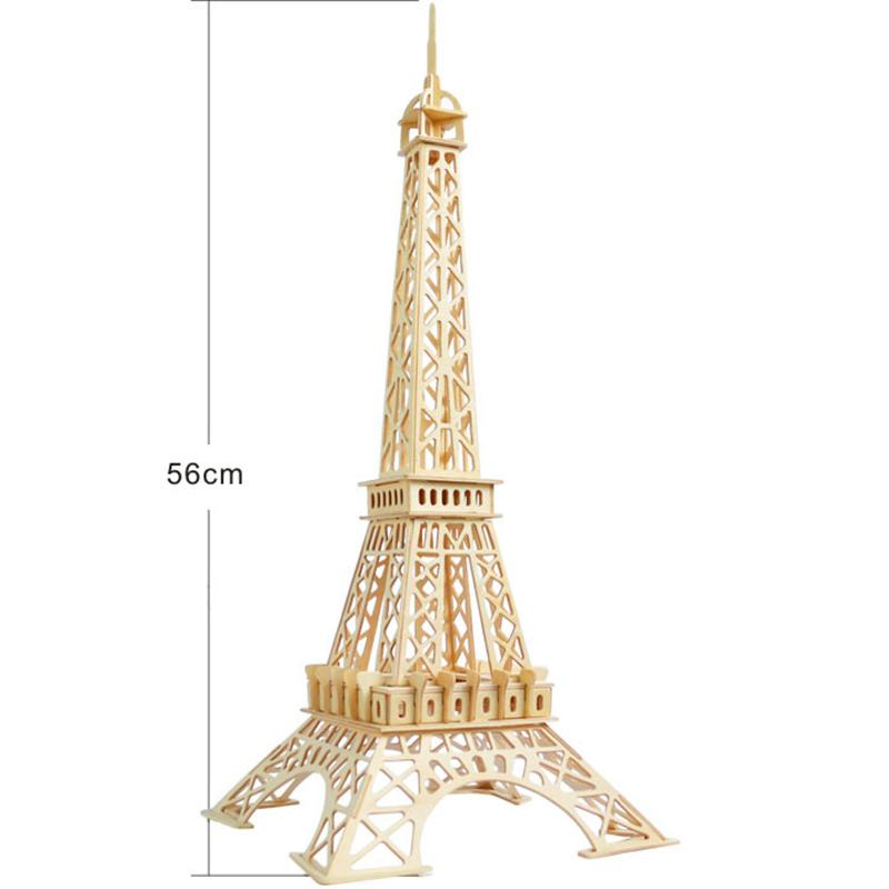 Creative 3D wooden Eiffel Tower assembled model educational toys learning children's educational gifts decorative table crafts Y200413