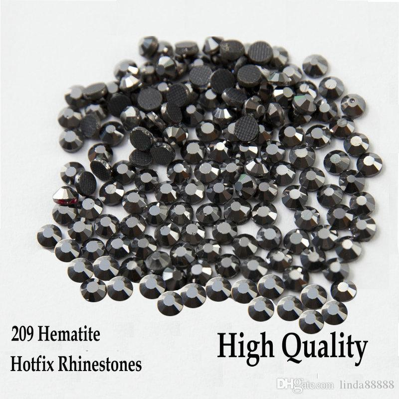 209 Hematite Flatback Hotfix Rhinestones SS6-SS30 Different Sizes Iron On Hotfix Rhinestones For DIY
