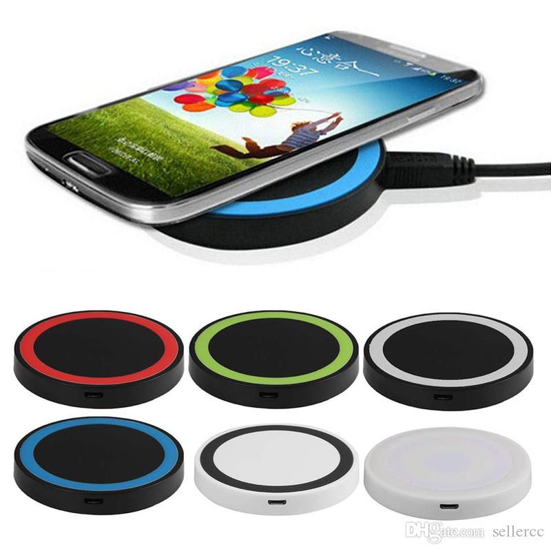 Qi Q5 Wireless-Ladegerät Handy-Mini-Lade Auflage für Qi-derte Gerät Samsung Galaxy S3 S4 S5 S6 Note2 Nokia HTC Fahrwerk Iphone