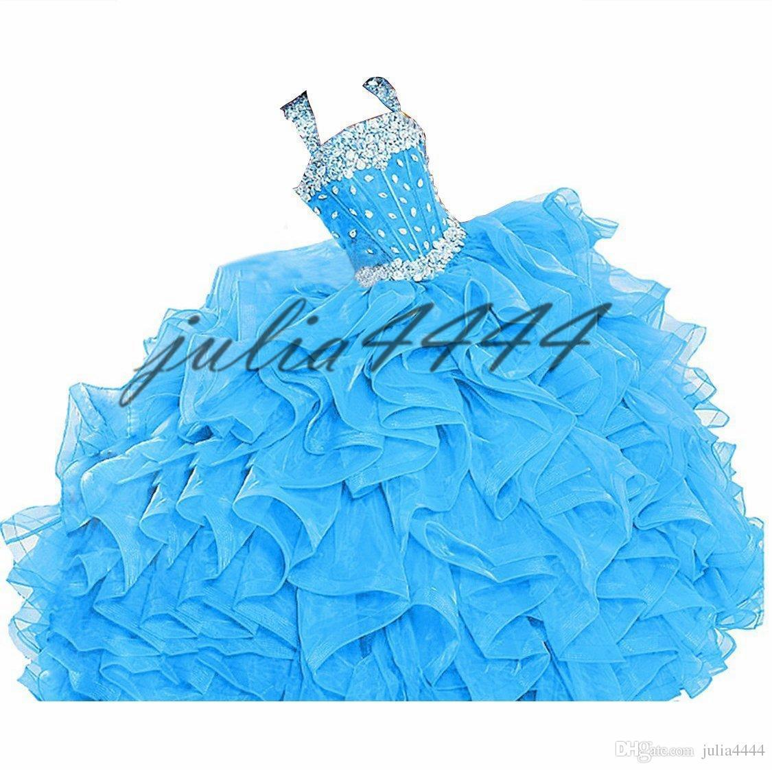 Appliques Perles De Quinceanera Robes Doux 15 Etage Longueur De Soirée De Bal De Noce Celebrity Tapis Rouge Défilé Robes Occasion