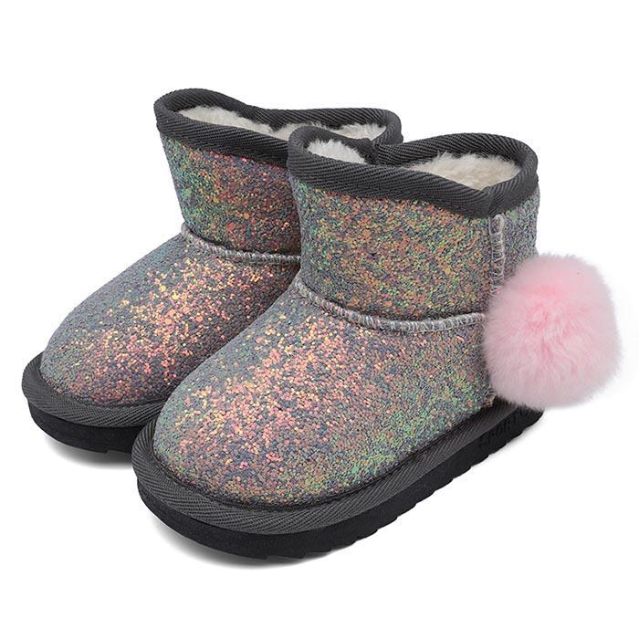 Babys Girls Toddler Snow Boots for Boys Girls Winter Outdoor Waterproof Fur Lined Kids Booties