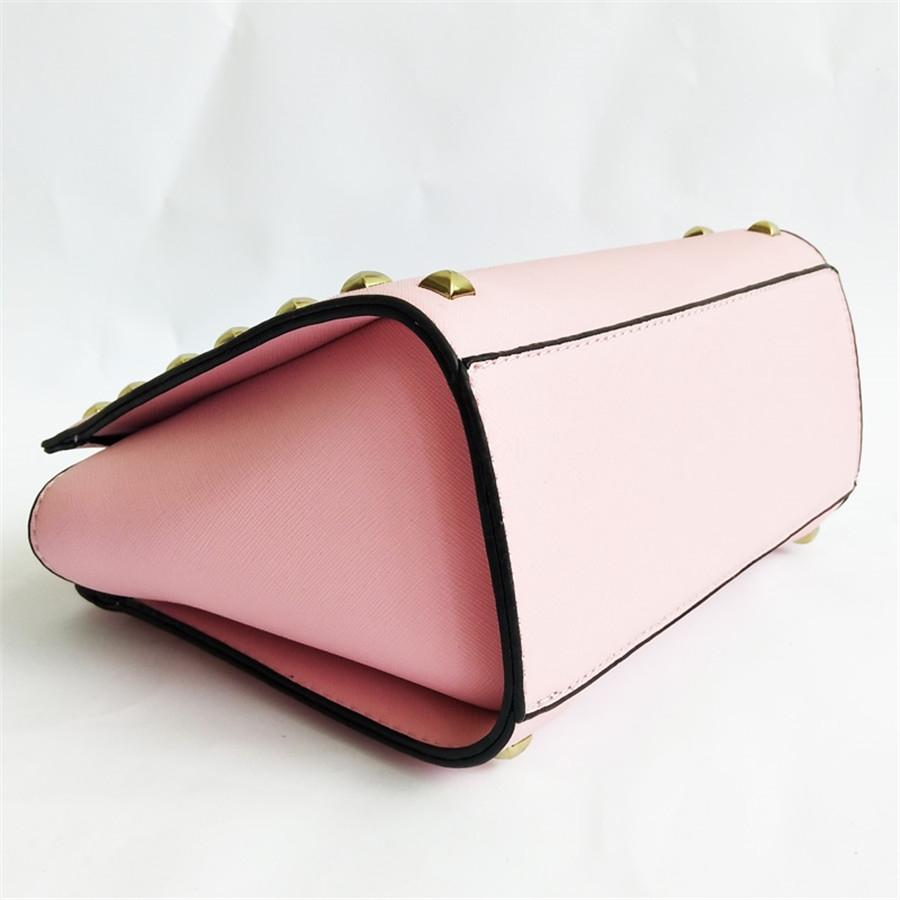 La moda de la aleta del hombro de lujo diseñador del bolso de la moda Empreinte remache de las mujeres del diseñador del mensajero de Crossbody # 686