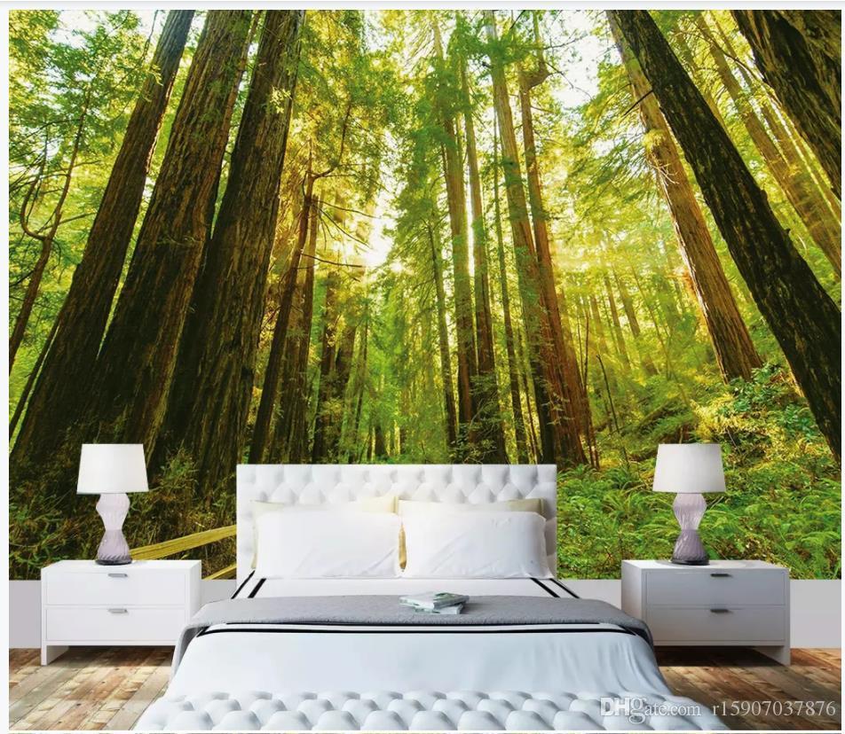 Fonds d'écran photo personnalisés pour murs peintures murales 3d fonds d'écran vert forêt fond peinture murale décoratif tv fond peinture murale peintures murales