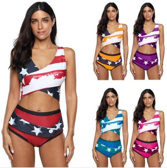 Top 2020 großes Plus schlank Ruffle Bikini Frauen mit Fett und große Spaltung und kreuz und quer durch dünne yakuda Badeanzug flexible stilvolle Bikini Sets