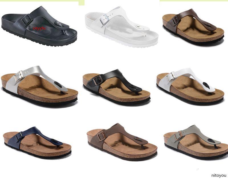 BOKEN nouveau style chaussure mince design bracelet Madrid Hommes Femme Flat Sandales Casual Classics Boucle Summer Beach Slipper en cuir véritable