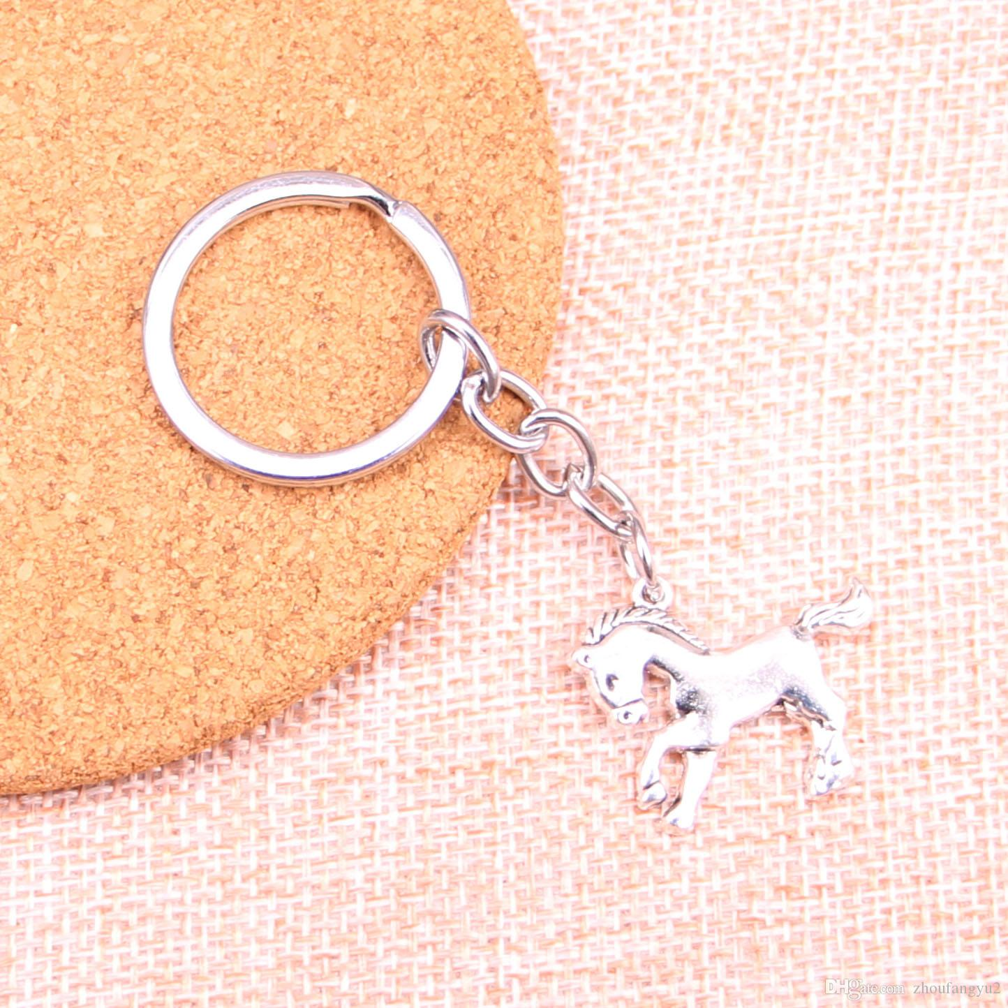 23 * 25 milímetros cavalo corcel KeyChain, New Handmade Metal Keychain Fashion Party presente Dropship Jóias