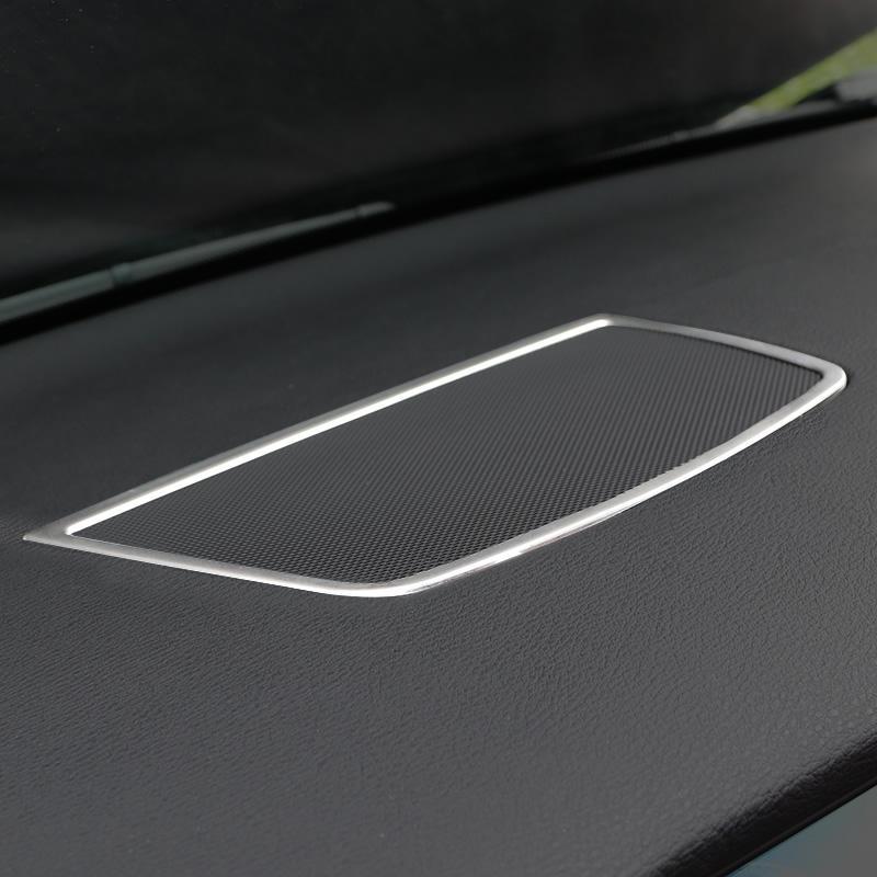 Corne en acier inoxydable Anneau cadre de protection de finition pour BMW X5 E70 X6 E71 2008-2014 Tableau de bord Intérieur Haut-parleur stéréo bande décorative