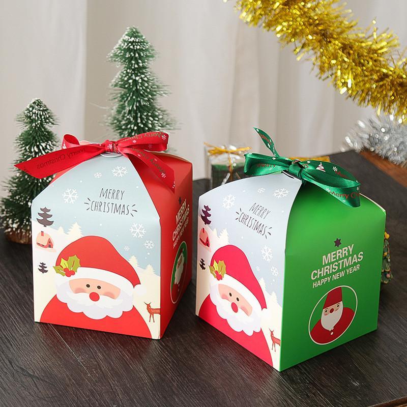 Cake Candy Gift Paper Bag Santa Claus Gift Box Chocolate Storage Bags Christmas Wedding Party Decor cyq00109