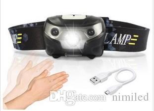 3000LM Mini Rechargeable LED HeadLamp Corps Capteur De Mouvement LED Tête De Vélo Lampe De Camping En Plein Air Lampe de Poche Avec USB LLFA