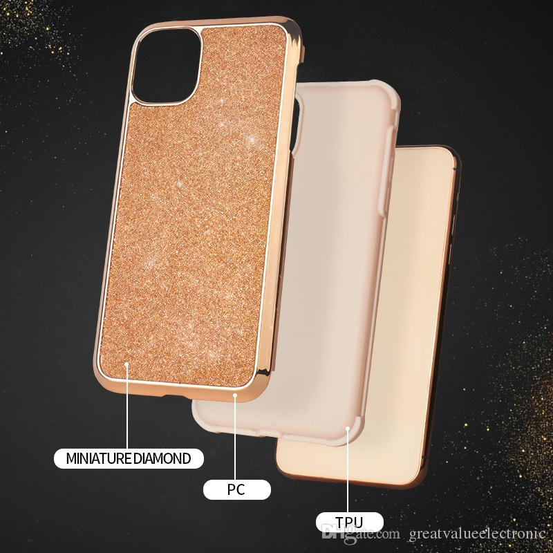 Hybrid 2in1 Slim Protective cover miniature diamond cases For iphone 11 pro max xr xs max glitter bling case for iphone 8 7 Plus