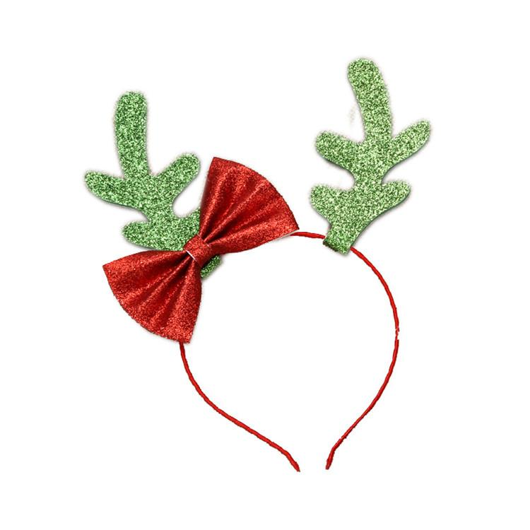 Christmas Hair Sticks Elk Antlers Hair Bows with Butterfly Party Decoration for Girls Kids Hairbands 3 Colors