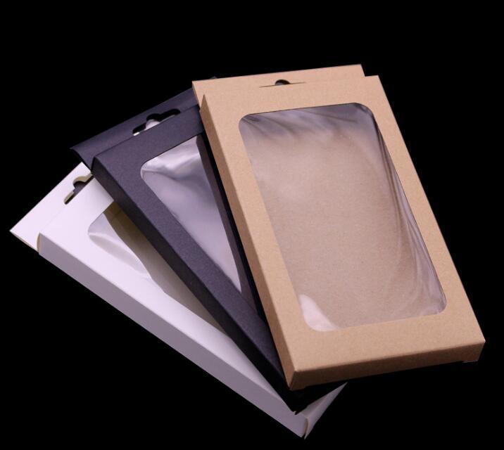 Papel Kraft Brown universal retro del paquete al por menor cajas de embalaje de la caja para el teléfono iPhone 11 Pro Max XS XR 6 7 8 Plus