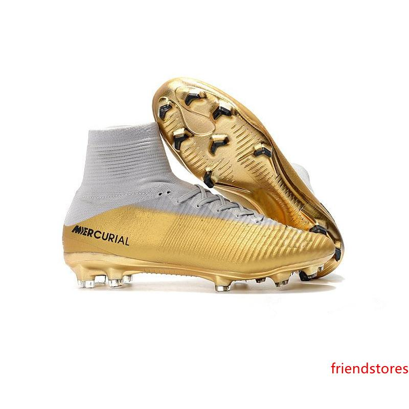2020 2019 Soccer Shoes Red Gold CR7