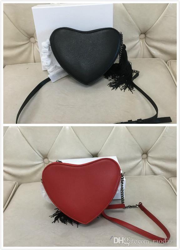 2019 Heart Shaped New Bag Fashion High Quality PU Leather Women Designer Handbag Chain Shoulder Messenger Bag Party Purse