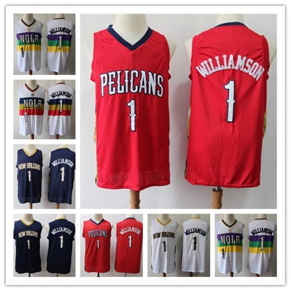 NCAA MenNovoOrleansPelicanos 1 SiãoWilliamson Swingman Jersey Edição jérseis cidade de basquete esportes
