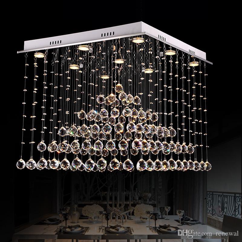 odada yatak odası otel lobisinde restoran salonu yaşamak için GU10 9 ışıkları ile DHL 2020 Lüks imparatorluk kristal Modern klasik bağbozumu avize