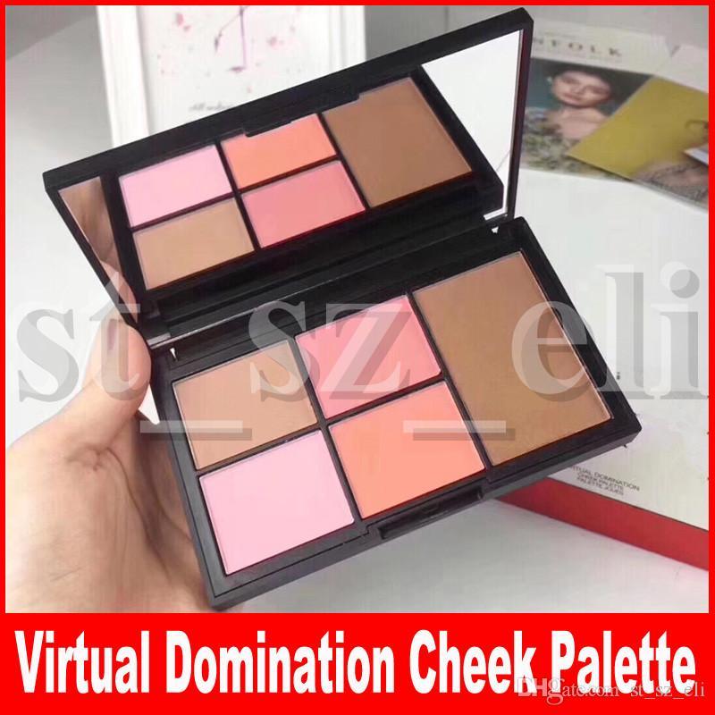Face Makeup Concealer Virtual Domination Cheek Palette Joues 5 Colors Face Highlight Blush Bronzing Powder Palette
