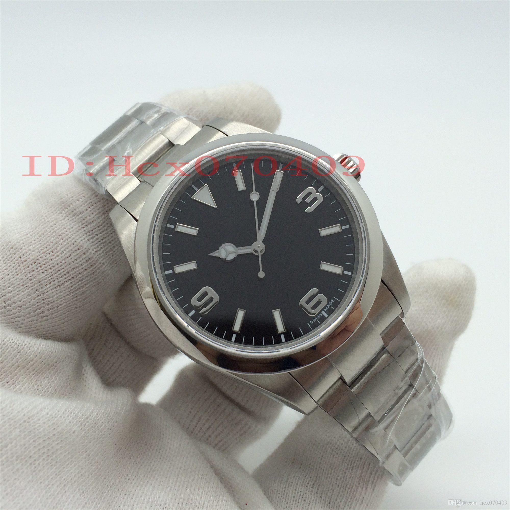 Beste Qualität JF-Hersteller 39mm 214270 Schwarz Cal Dial. 3132 Bewegung Eta Stahl Automatik Herren Uhren Herrenarmbanduhr V2 Ultimate Edition