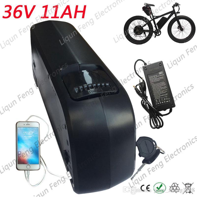 36V 11A 돌고래 케이스 리튬 스쿠터 배터리 팩 병 케이스 다운 튜브 36V 11AH 전기 자전거 리튬 이온 배터리 무료 배송.