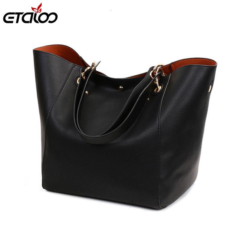 Borsa borse in pelle Big donne 2PCS / Set di alta qualità casual sacchetti femminili Tronco spalla del Tote signore di sacchetto di grande Borse CJ191205