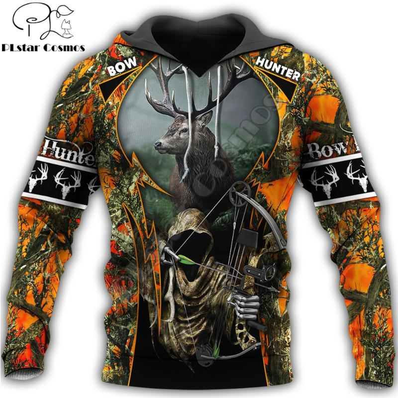 Erkek Hoodies Tişörtü Moda Erkek Hoodie Güzel Avcılık Camo 3D Baskılı Harajuku Kazak Unisex Rahat Ceket Kazak Sudadera
