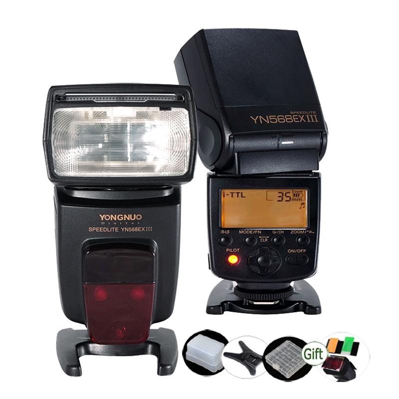 Yongnuo YN568EX III SPEEDLITE GN58 TTL inalámbrico HSS 1 / 8000S Flash esclavo maestro para Nikon D7000 D5200 D5100 D5000 D3100