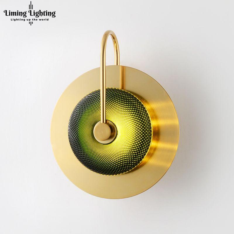 Moderno LED luces de pared de cristal de latón Corredor lámpara de pared Cafe baño iluminación escaleras de noche para el hogar sala de estar dormitorio luz