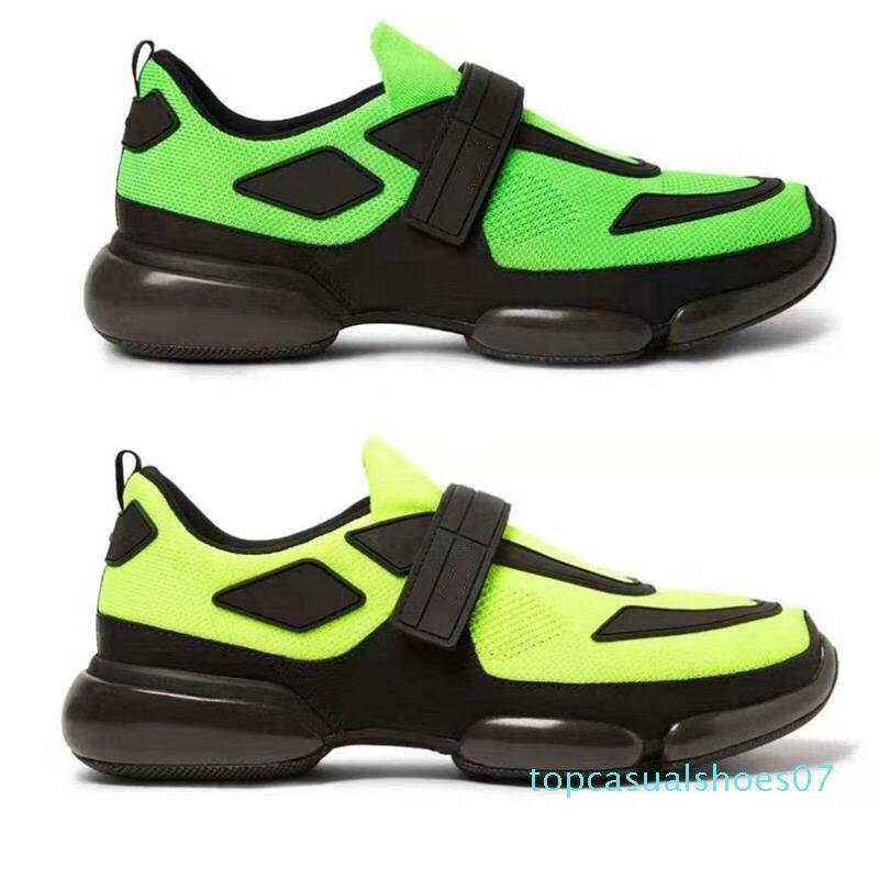 2020 Cloudbust Casual Sneaker Noir Rouge Patchwork Chaussures Designer Hommes Femmes Cloudbust Chaussures Low Top Mesh Flat Sneaker boucle sangle style T07
