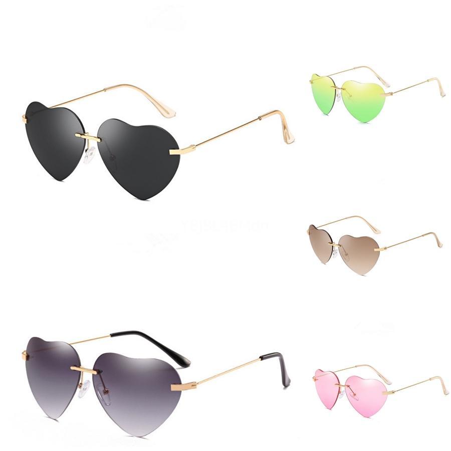 2020 Ray Polarisiert Heart-Shaped Sunglasee Männer Frauen Pilot Heart-Shaped Sunglasee Uv400 Brillen Bans # 96877